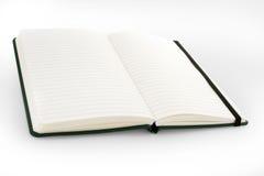 Abra el listín en blanco del cuaderno/de teléfonos/el diario Foto de archivo