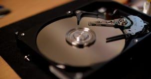 Abra el mecanismo impulsor de disco duro almacen de video