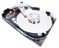 Abra el mecanismo impulsor duro entero Imágenes de archivo libres de regalías