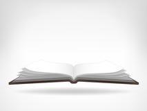 Abra el objeto aislado de la vista lateral del libro de trabajo Foto de archivo