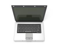 Abra el ordenador portátil sin las letras en el teclado Fotografía de archivo libre de regalías