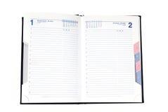 Abra el organizador/al planificador Imágenes de archivo libres de regalías