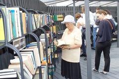 Abra el proyecto de la biblioteca en la nueva isla de Holanda, SPb Imágenes de archivo libres de regalías