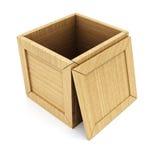 Abra el rectángulo de madera vacío stock de ilustración