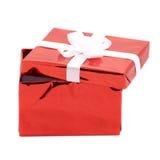 Abra el rectángulo de regalo Fotos de archivo libres de regalías