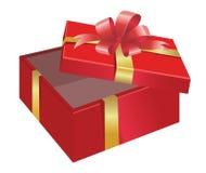 Abra el rectángulo de regalo stock de ilustración