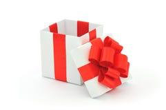 Abra el rectángulo de regalo Foto de archivo libre de regalías