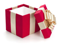 Abra el rectángulo de regalo. Imágenes de archivo libres de regalías