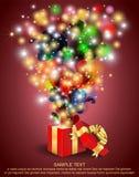 Abra el rectángulo de regalo Fotografía de archivo