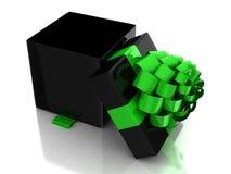 Abra el rectángulo de regalo Imagenes de archivo