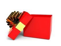 Abra el rectángulo de regalo de la Navidad Imagen de archivo