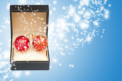 Abra el rectángulo de regalo mágico Imagen de archivo libre de regalías