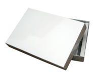 Abra el rectángulo en blanco con el camino Foto de archivo