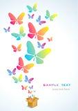 Abra el rectángulo y la mariposa Fotos de archivo