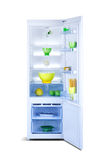 Abra el refrigerador Congelador de refrigerador Foto de archivo libre de regalías