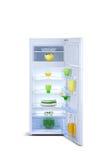 Abra el refrigerador Congelador de refrigerador Fotografía de archivo libre de regalías