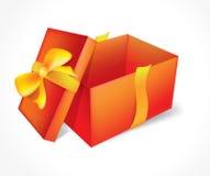 Abra el regalo rojo Imágenes de archivo libres de regalías