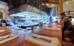 Abra el restaurante de Kichen Foto de archivo libre de regalías
