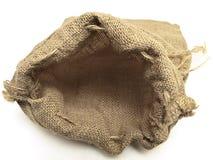 Abra el saco de lino amarillento con las trenzas Imágenes de archivo libres de regalías