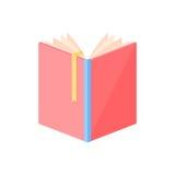 Abra el vector del libro Imagen de archivo libre de regalías