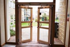 Abra a entrada com vista Imagens de Stock