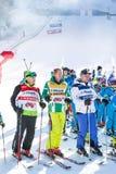 Abra a estação nova 2015-2016 do esqui em Bansko, Bulgária Imagem de Stock Royalty Free