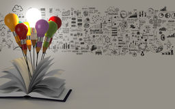 Abra a estratégia empresarial do livro Imagem de Stock