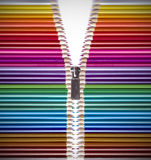 Abra a faculdade criadora com lápis coloridos Fotografia de Stock
