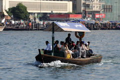 Abra ferry at Dubai Creek Royalty Free Stock Photos