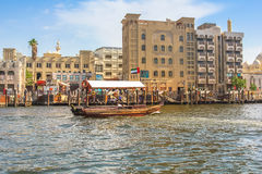 Abra i Dubai Creek Royaltyfria Foton