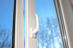 Abra a janela plástica do vinil Imagem de Stock