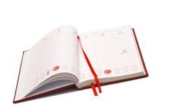 Abra la agenda imagen de archivo libre de regalías