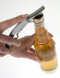 Abra la botella de cerveza 3 Fotos de archivo libres de regalías