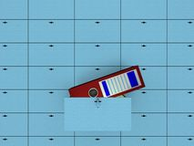 Abra la célula en rectángulo de depósito de seguridad. libre illustration