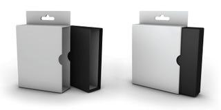 Abra la caja aislada en un fondo blanco Imágenes de archivo libres de regalías