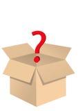 Abra la caja con el ejemplo EPS 10 de la pregunta Imagen de archivo libre de regalías
