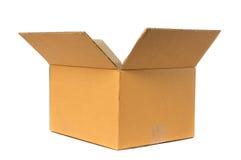 Abra la caja de cartón fotos de archivo
