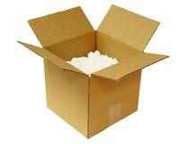 Abra la caja de cartón fotografía de archivo