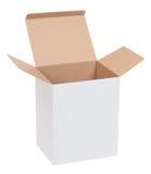 Abra la caja de cartón Imagen de archivo