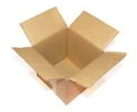 Abra la caja de cartón Foto de archivo