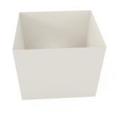 Abra la caja de cartón aislada en blanco Imágenes de archivo libres de regalías