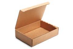 Abra la caja de cartón vacía Foto de archivo