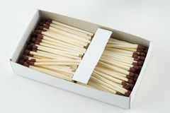 Abra la caja de cerillos Fotografía de archivo