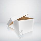 Abra la caja de embalaje Fotografía de archivo