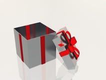 Abra la caja de regalo Imágenes de archivo libres de regalías