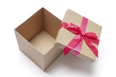 Abra la caja de regalo - foto común Fotos de archivo libres de regalías