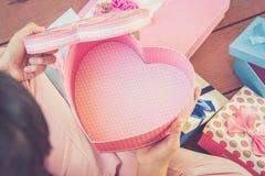 Abra la caja del corazón Imágenes de archivo libres de regalías