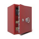 Abra la caja fuerte de la batería con oro Imagenes de archivo