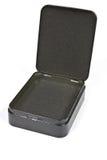 Abra la caja negra del metal Foto de archivo libre de regalías