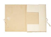 Abra la carpeta vieja imagen de archivo libre de regalías